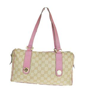 Gucci GG Canvas GG Pattern Canvas,Leather Shoulder